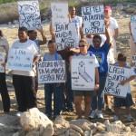 2wc.org image - LEGISLATION-Carib (sand mining - Boca Onima public protest Aug05) - (c) STCB