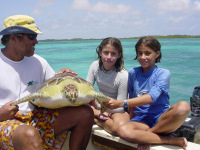 VISION Cm w Funchi, Mabel's kids - Lac Bay Jul03 - (c) R vanDam
