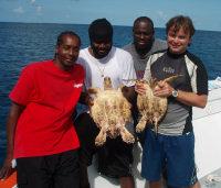 Anguilla5 - Hawksbills & DFMR Staff (J Gumbs)small