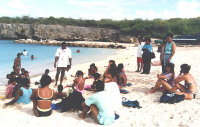 Curacao5 - teaching on the beach