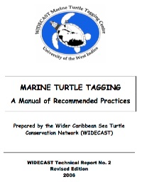 MARINE TURTLE TAGGING A Manual of Recommended Practices