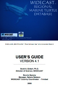 WIDECAST Regional Marine Turtle Database - User's Guide